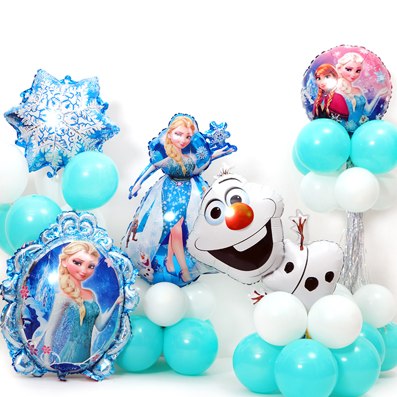 Disney Frozen Party Balloons Napins Tableware Set Birthday Party Decor Baby Shower Party Supplies Set Party Decoration