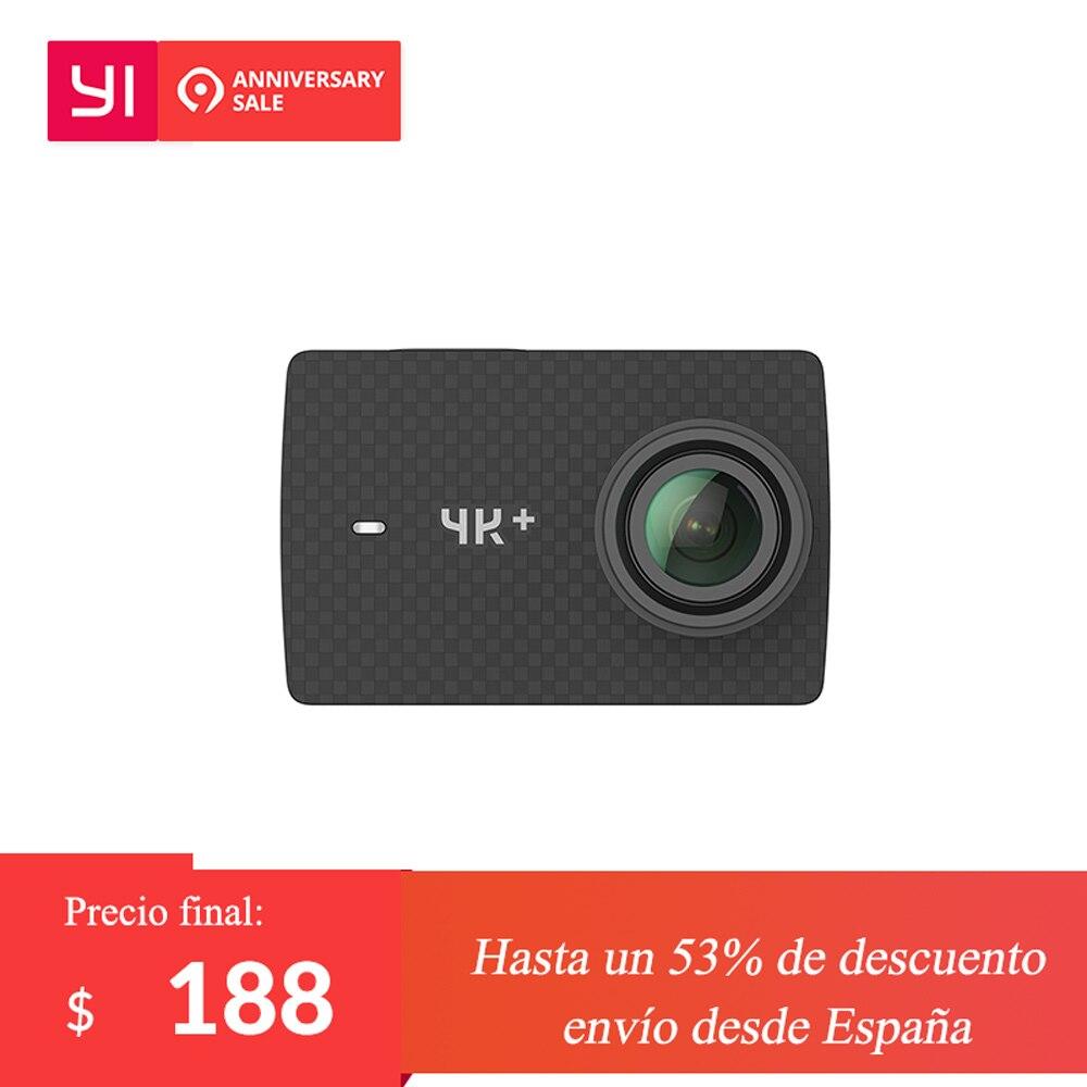 YI 4 k + (Plus) macchina Fotografica di azione di Versione Internazionale IN PRIMO LUOGO 4 k/60fps Amba H2 SOC IMX377 12MP 2.2