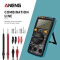 ANENG M10 AN8001 Портативный ЖК-цифровой мультиметр 6000 отсчетов подсветка AC/DC Амперметр Вольтметр Ом метр тесте