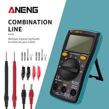 цена на ANENG M10 AN8001 Portable LCD Digital Multimeter 6000 Counts Backlight AC/DC Ammeter Voltmeter Ohm Meter Teste