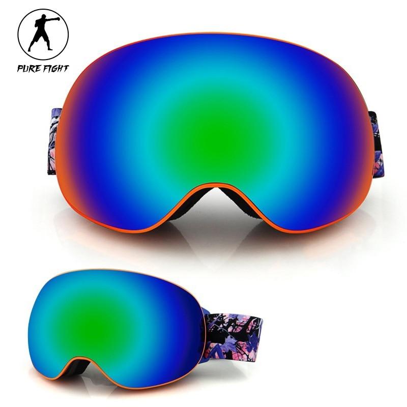 Prix pour Professionnel Ski Lunettes Hommes Femmes Anti-Brouillard À Double Lentille UV400 Hiver Ski Neige Lunettes de Randonnée En Plein Air Moto Lunettes De Jeu