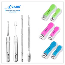 ACARE Toenail Cuticle Remover Nail Pusher Manicure Kit Nail Scissors Toenail Clipper Cuticle Cutter Pedicure Tool
