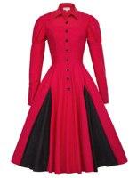 2018 Medieval Dress Womens Autumn Cotton Long Sleeve Victorian Gothic Vintage 50s 60s Comfortable Renaissance Dress