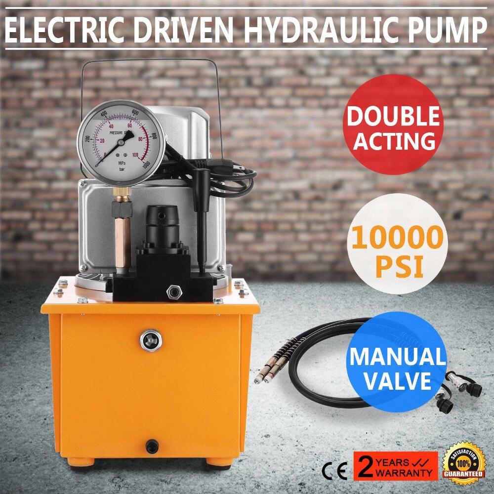 Pompe hydraulique à entraînement électrique, 10000 PSI (vanne manuelle à Double effet) DYB-63B-2