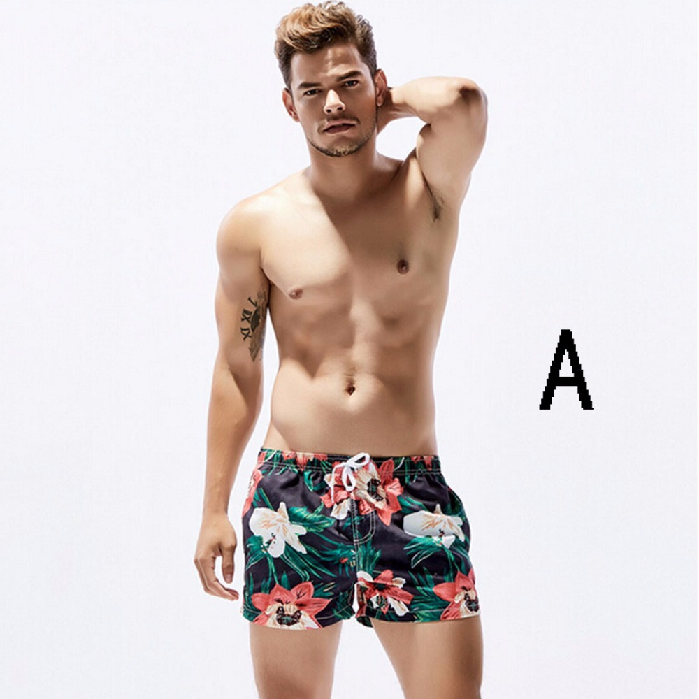 Daddy Chen Beach   Shorts   Floral Quick-Dry Mens Surf   Board     Shorts   Summer Big Tall   Short   Pants Beach Beachwear Bathing Suit Adult