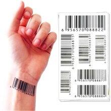 Nu Era Matrix Barcode Temporary Tattoo Body Art Flash Tattoo Sticker 17*10cm Waterproof Henna Tatoo Selfie Wall Sticker