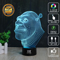 Shrek Lamp dolphin 3D Lamp LED 7 Colors Novelty Night Lights USB Holiday Light Glowing Christmas Gift HUI YUAN Brand