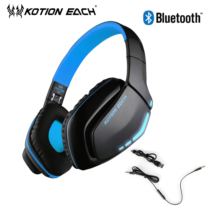 KOTION EACH Big Casque Audio Wired Gaming Earphone Bluetooth Headphone For Phone Computer Hifi Headset Auricular With Microphone mvpower 3 5mm stereo headphone wired gaming headset with mic microphone earphones for sony ps4 computer smartphone hifi earphone