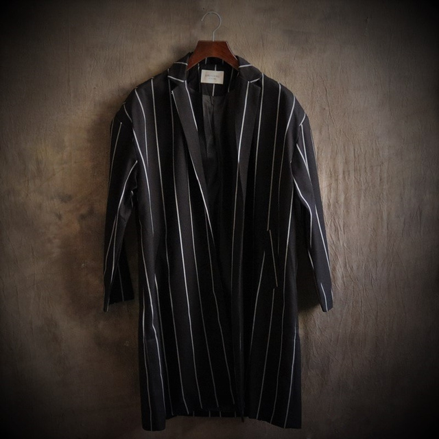 Euro e tipo, grandes estaleiros ampla faixa terno do revestimento do revestimento longo do ombro esquerdo Casais lazer lazer moda casaco de lã casaco de trincheira