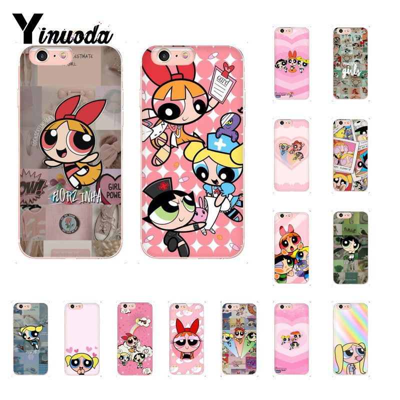 Yinuoda Die Powerpuff Girls Custom Foto Weiche Telefon Fall für <font><b>iPhone</b></font> 8 <font><b>7</b></font> 6 6S <font><b>Plus</b></font> X XS MAX 5 5S SE XR 10 Abdeckung image