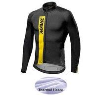 Mavic Winter Thermal Fleece Cycling Jerseys Long Sleeve Ropa Ciclismo MTB Bicycle Rock Racing Bike Clothes