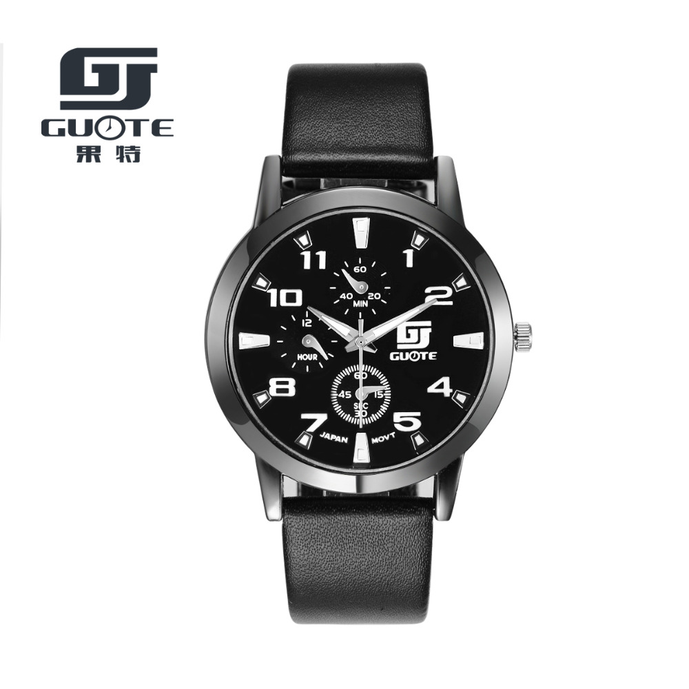 GUOTE Brand 2016 New Fashion Casual Quartz Watch Men Leather Strap Watches Outdoor Sport Military Watch Relogio Masculino Clock lowepro nova 180 aw ii black