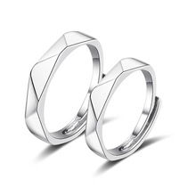 Couple Ring Sets for Wedding Bride and Groom Solid 925 Sterling Silver Jewelry Wedding Bands Sets Gift Accessory for Couple