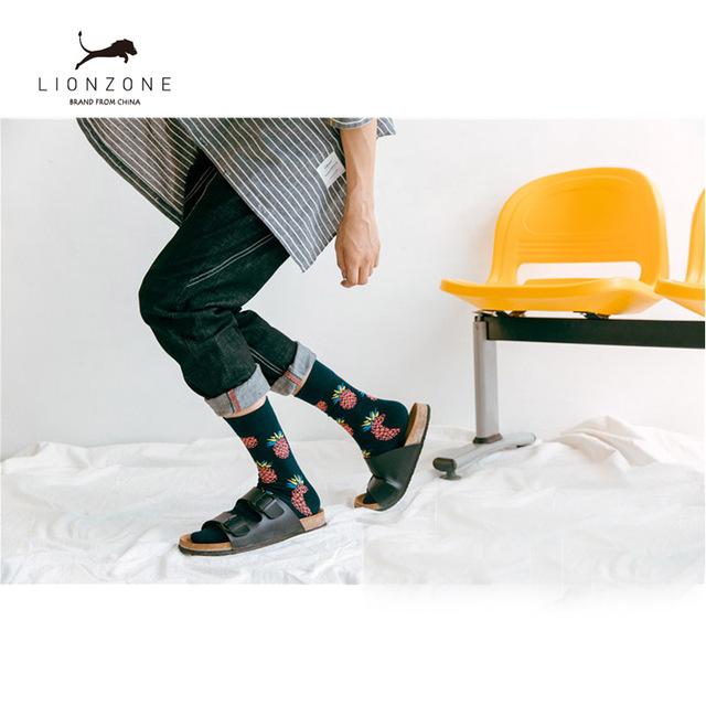 Mens Happy Socks 27Colors Striped Plaid Diamond Cherry Socks