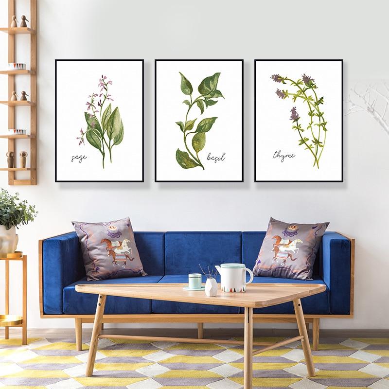 3ks Květiny Olejomalba vytištěno na plátně Barevné nástěnné - Dekorace interiéru