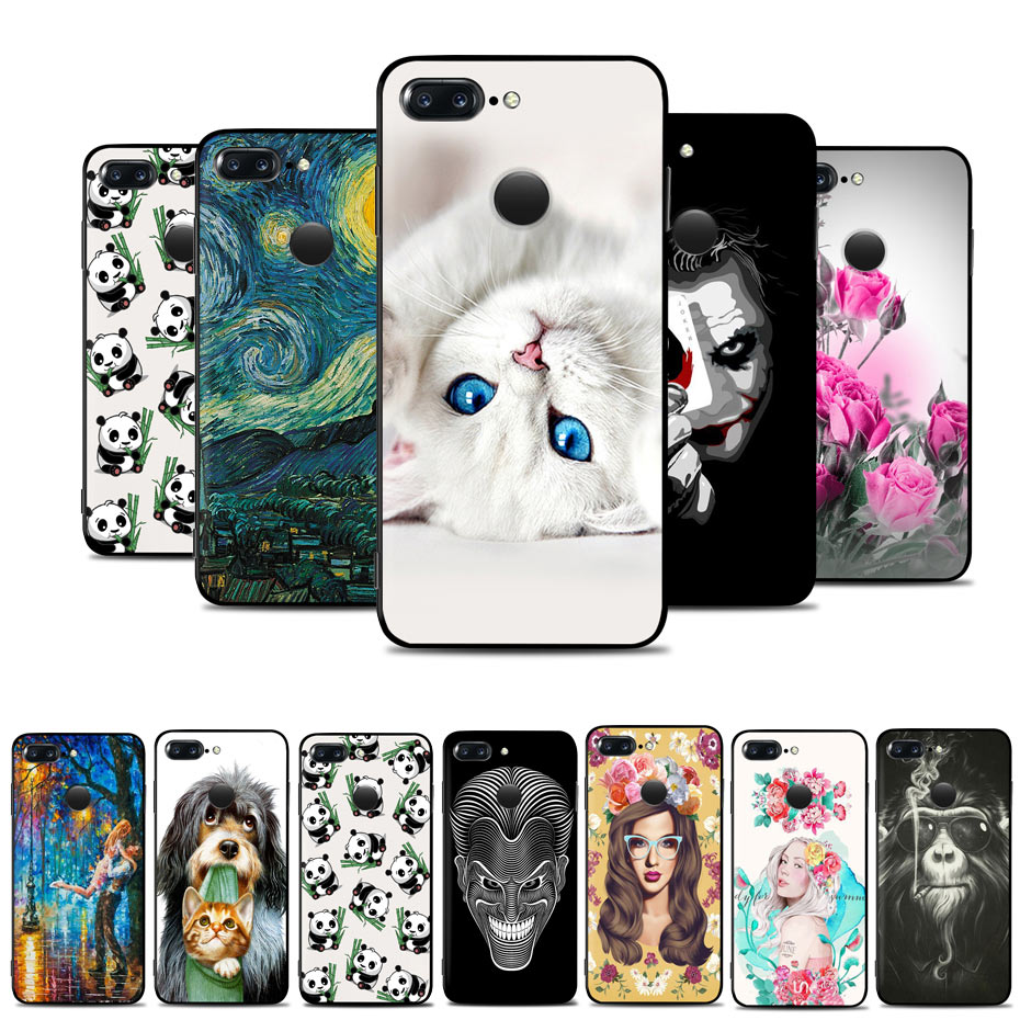 For OnePlus 5T Case TPU Soft OnePlus 3 T Silicone Cover Phone Case For OnePlus 3 3T One Plus 5T 3T Back Cover Cases Cute Drawing