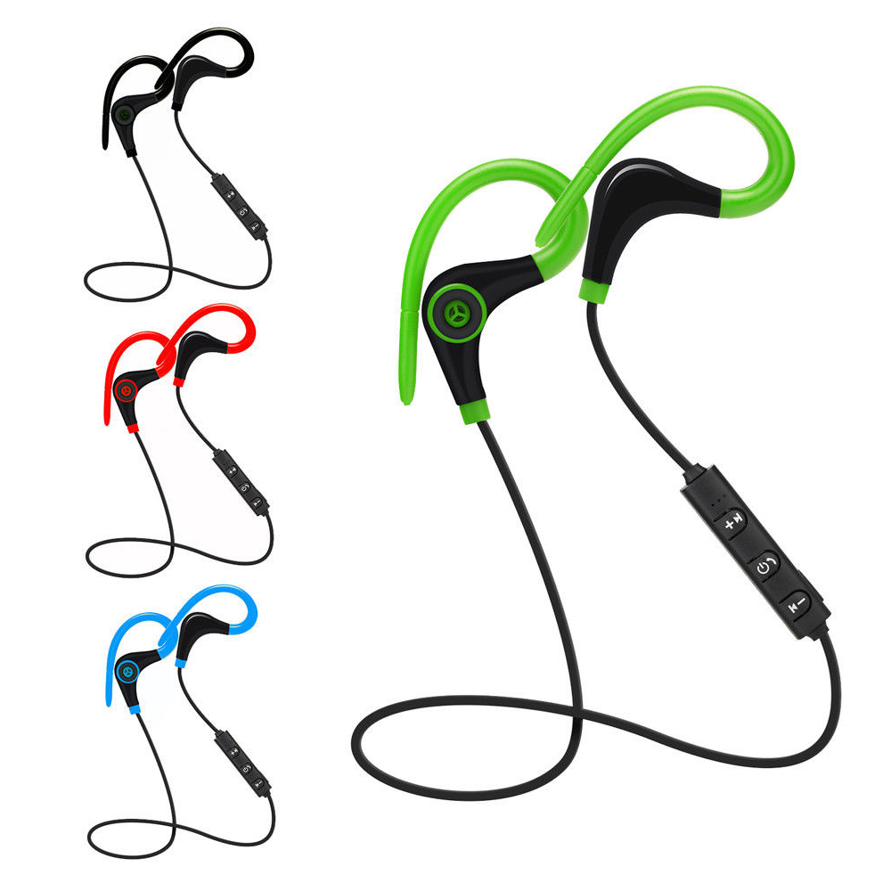 Bluetooth Headset Wireless Sport Bluetooth Earphone Lossless Headphone Noise Cancelling In-Ear with Ear Hook for IPhone Samsung magnetic attraction bluetooth earphone headset waterproof sports 4.2