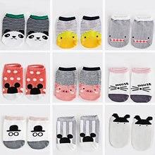 Baby Short Socks children Cotton Cartoon Socks Kids Toddler Girls Boys Short Socks Anti-Slip Floor Socks Autumn Winter 2-6T