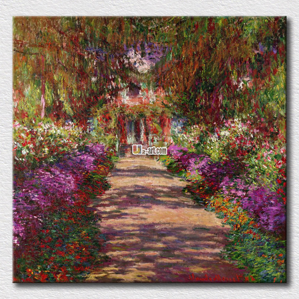Beautiful house of Monet painting reproduction canvas prints high quality arts for <font><b>home</b></font> <font><b>decoration</b></font> <font><b>elegant</b></font> taste