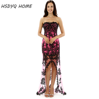 2015 No Risk Shopping Sexy Black Red Prom Dresses Appliques Dress Summer Fashion Sleeveless Gowns