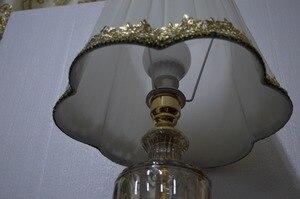 Image 5 - Lâmpada de mesa moderna, estilo europeu, para quarto, sala de estar, decoração de luxo, lâmpada de mesa, iluminação de mesa lateral