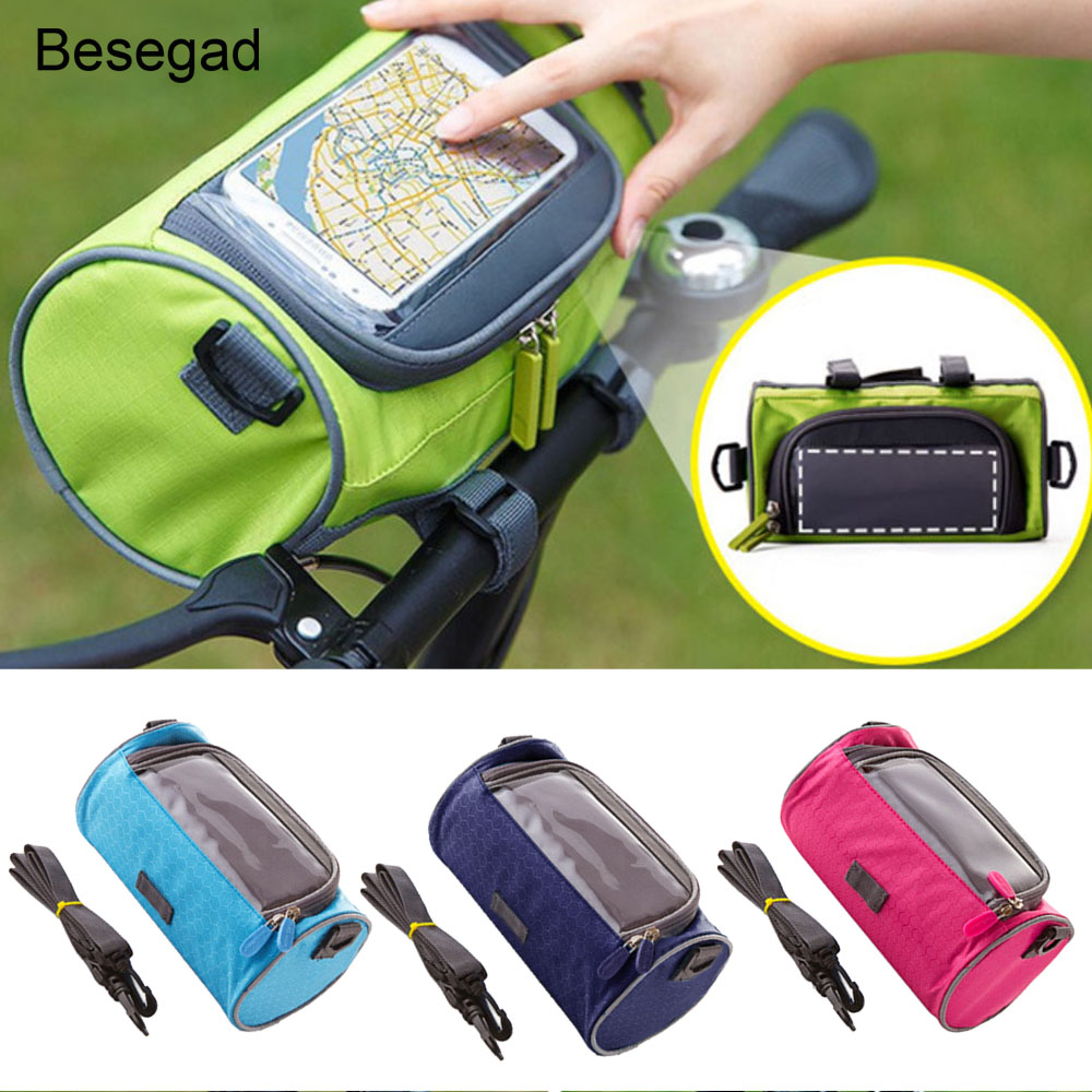 Besegad Water proof Bicycle Handlebar Cycling Outdoor <font><b>Phone</b></font> <font><b>Holder</b></font> Bag Case with Touch Screen Capability for <font><b>iPhone</b></font> <font><b>8</b></font> 7 6 5 5S image