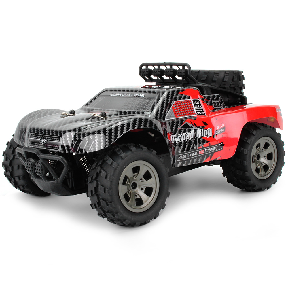 2.4GHz Wireless Remote Control Toy Big Tires RC Off-Road Cars 1/18 Scale Monster Truck 18km/H Drift RC Car Desert Truck RTR Toy 2pcs set big remote control car rc excavator detachable kids electric big rc car trailer remote control wireless truck car toy