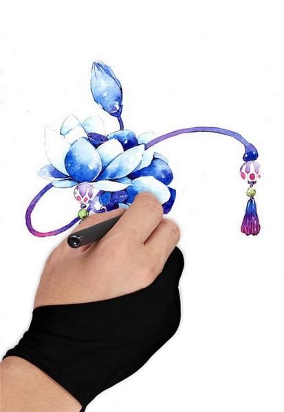 DHL 200 teile/los Künstler Zeichnung Zwei Finger Handschuh Für Grafiken Zeichnung-in Haushalts-Handschuhe aus Heim und Garten bei  Gruppe 1