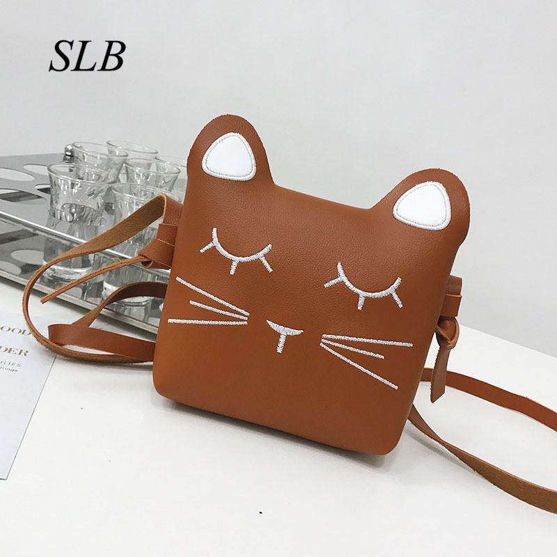 New Cute Cheap Baby bag 1 - 3 - 5 years old cute baby bag princess fashion bag slung mini shoulder bag girl Cat Mini Coin Purse
