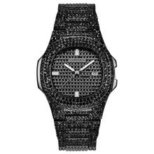 Iced Out Watches Women Hip Hop Bling Diamond Mens
