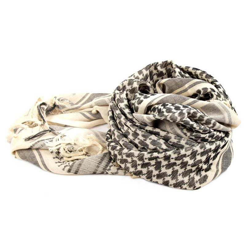 Shemagh Army Military head scarf plaid Keffiyeh Scarve Palestine Desert cotton Shawls Muslim Hijab Thicken Islamic Wrap bandana