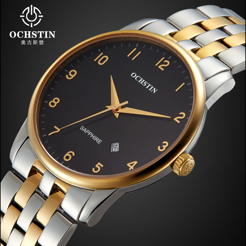 Luxury Real Brand Ochstin Business Watches Men 2016 Fashion Auto Date Quartz Watch Casual Wristwatch Relogio Masculino Hot Gift new 1685pcs lepin 05036 1685pcs star series tie building fighter educational blocks bricks toys compatible with 75095 wars