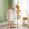 Lanskaya Creative Modern Bamboo Floor Coatrack Clothes Tree Bag Hat Rack Coat Hanger Furniture Bedroom Hook Hanging Hooks