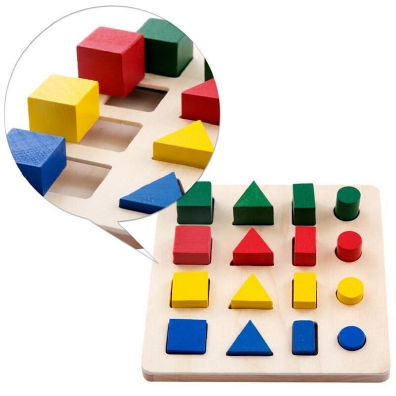 8 In 1 Set Montessori Wooden Shape Matching Educational Blocks Kids Toys For Children Oyuncak Brinquedos Juguetes Brinquedo 59