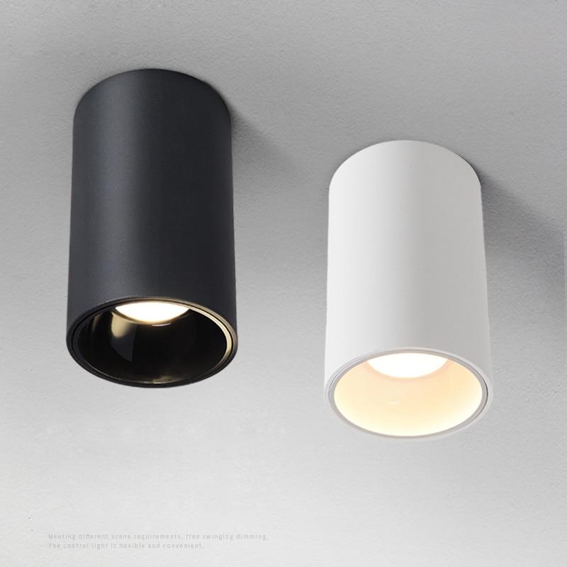 LED Ceiling Lights Single spot LED lamps illumination 12W led ceiling light Aluminum lamp decorations Mounted