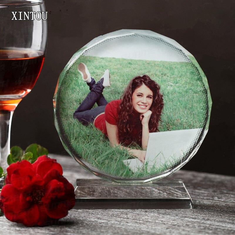 Cadre Photo personnalisé rond XINTOU artisanat Miniature anniversaire de mariage saint valentin Photo cadeau personnalisé Souvenirs