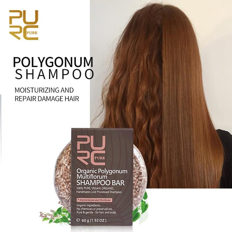 PURC Shampoo-Bar Preservatives No-Chemicals Handmade Cold-Processed Polygonum Or 100%Pure