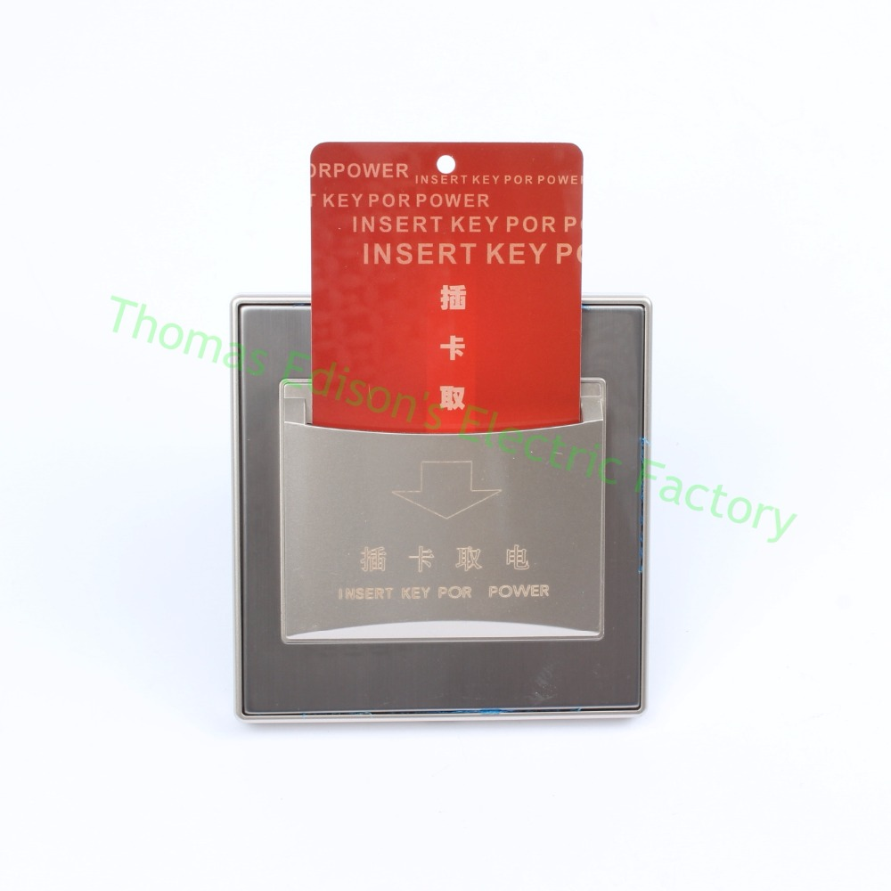 DIANQI wall switch access control the switches 25A Hotel Energy Saving card switch цена