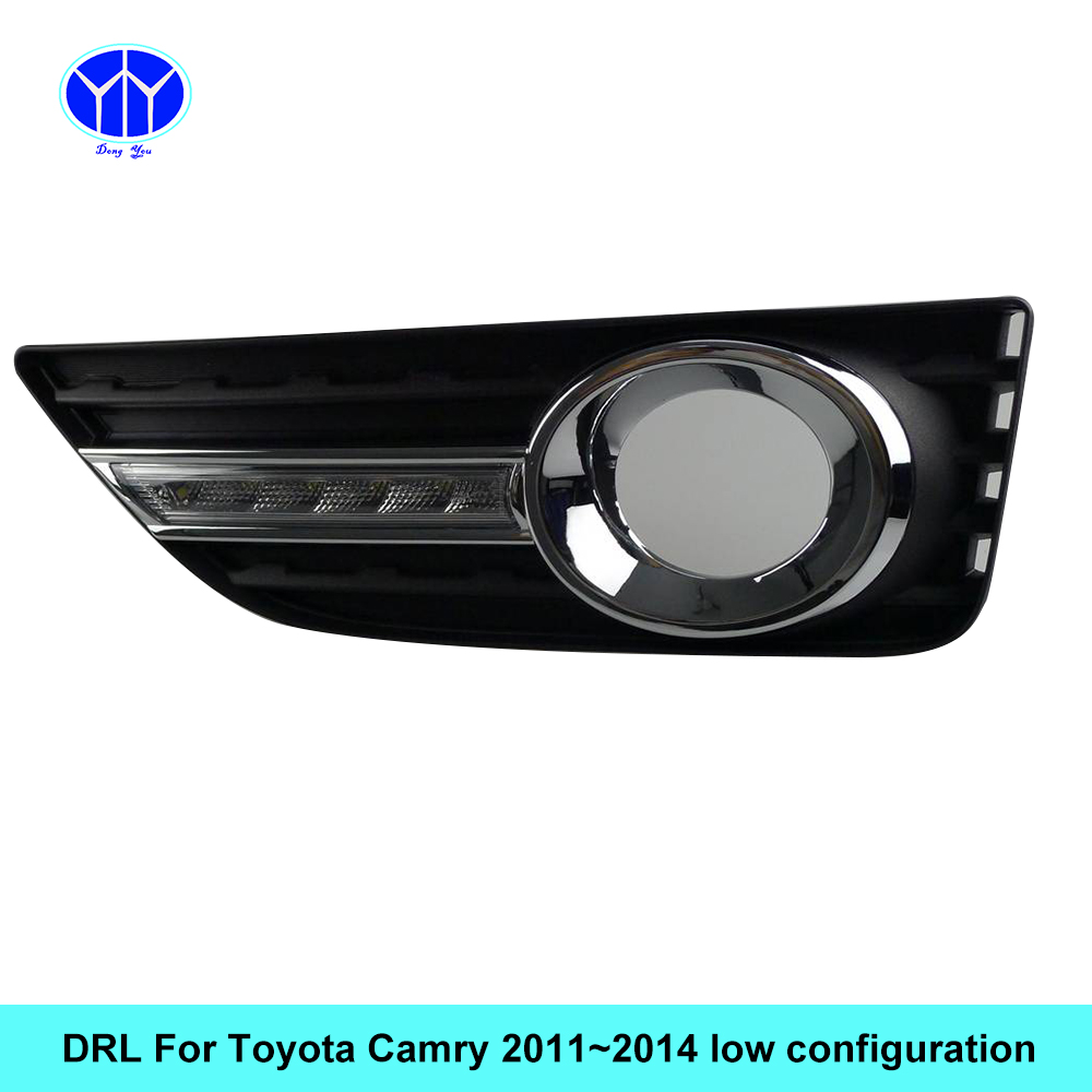 Car DRL kit for Toyota Camry 2011 2012 2013 2014 LED Daytime Running Light Bar fog lamp bulb daylight for car led drl light 12V car stlying 12v led daytime running light drl fog lamp decoration for toyota prado 2008 2009 2010 2011 2012 2013 2014 2015 2pcs