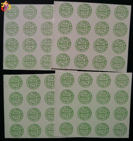 fragil 1 centimetros de diametro verde
