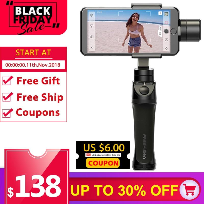 Freevision Vilta M 3 оси ручной карданный смартфон стабилизатор для iPhone X 5 6s 8 samsung GoPro HERO5 4 3 Yi 4k pk Осмо 2 dji