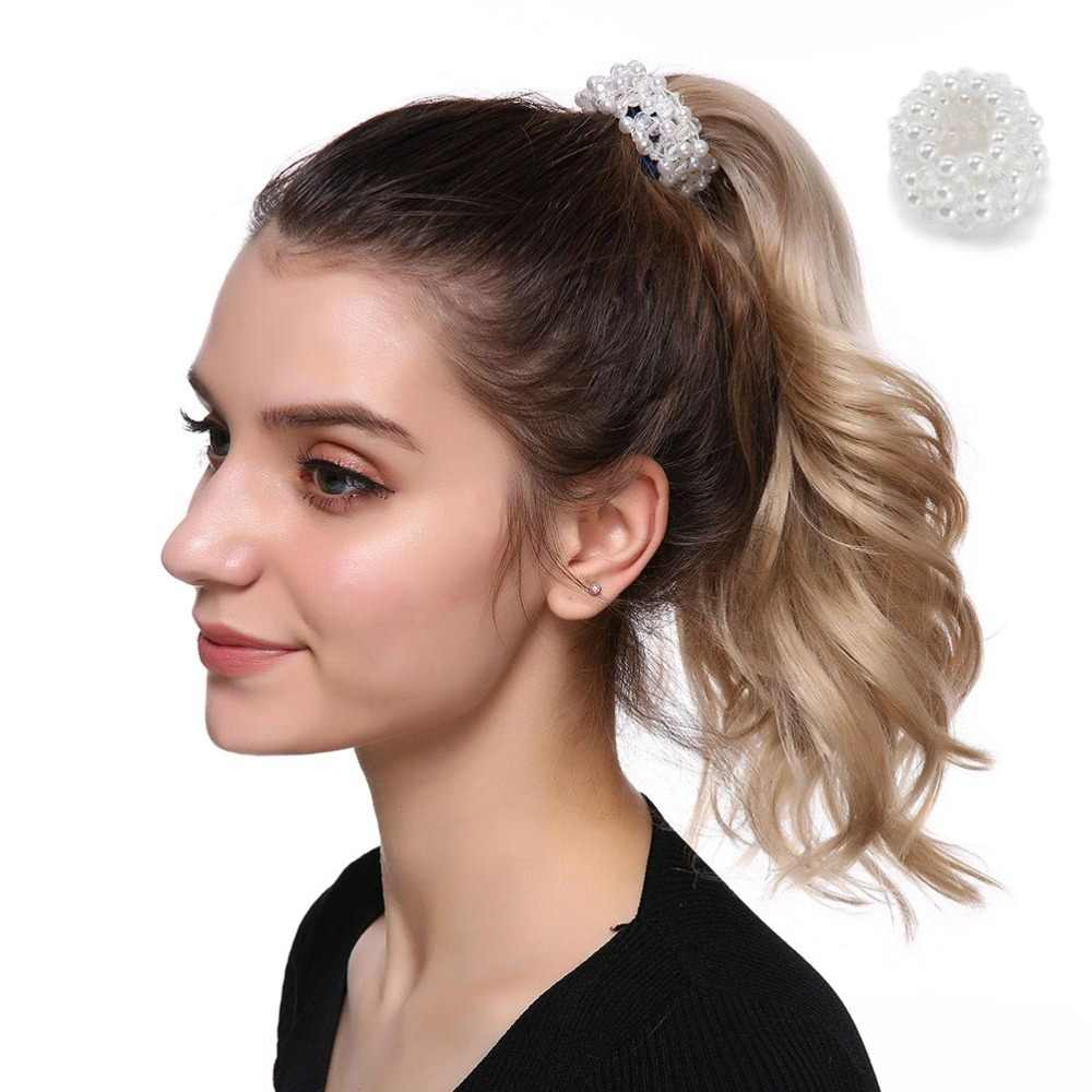 M mismo moda bandas de cabelo elásticas mini pealrs feminino goma para laços de cabelo para meninas acessórios para o cabelo faixa de borracha scrunchy goma pelo