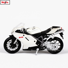 Maisto 1:18 16 styles Ducati NO848 white original authorized simulation alloy motorcycle model toy car gift collection