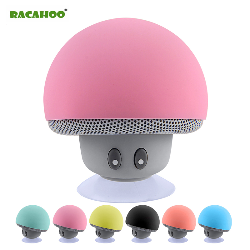 RACAHOO Mini Bluetooth Speaker Waterproof Mushroom Wireless Music HiFi Stereo Subwoofer Hands Free For Phone Android IOS PC