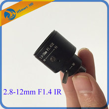 2.8-12mm M12 Manual Focus Zoom MTV Lens For 1/3″&1/4″CCTV Security CCD Mini Camera DVR Systems