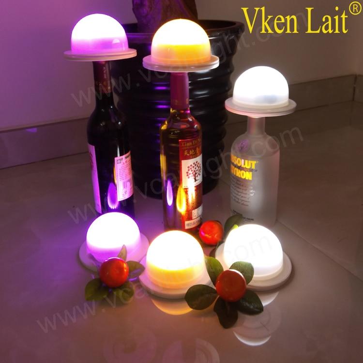 12 PCS/lot DHL livraison gratuite Super lumineux sans fil coloré rvb lampes de table LED rechargeables