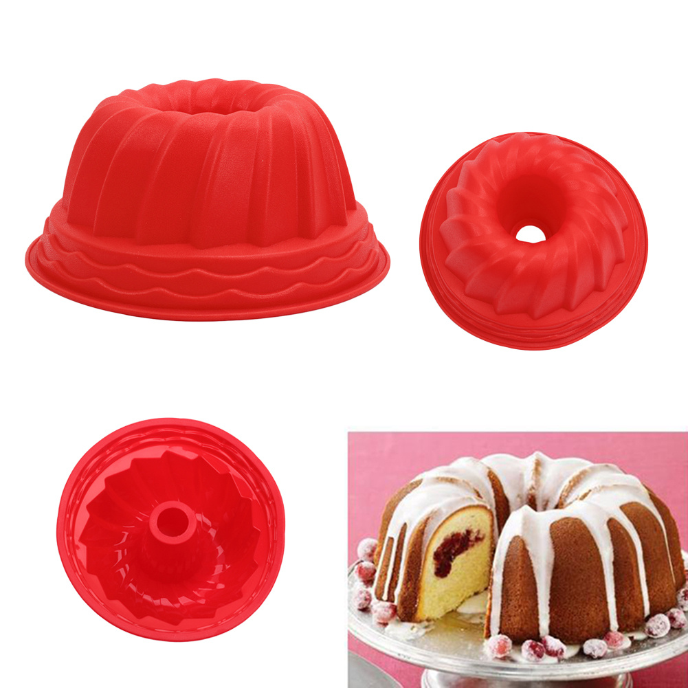 Bundt cake pans for sale - 1pc Bundt Ring Silicone Bakeware Mould Cake Pan Bread Pastry Tin Baking Mold Tool Home Kitchen