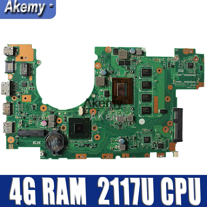 X402CA X502CA Laptop motherboard for ASUS X502C X402C F502C F402C Mainboard for laptop with 4 g RAM 2117U CPU Tests 100% OKX402CA X502CA Laptop motherboard for ASUS X502C X402C F502C F402C Mainboard for laptop with 4 g RAM 2117U CPU Tests 100% OK