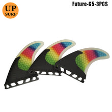 цена Future Fins Carbon Fibre Rainbow SUP G5 Surfboard Fin Quilhas Future Quad Fin Set Thruster Honeycomb