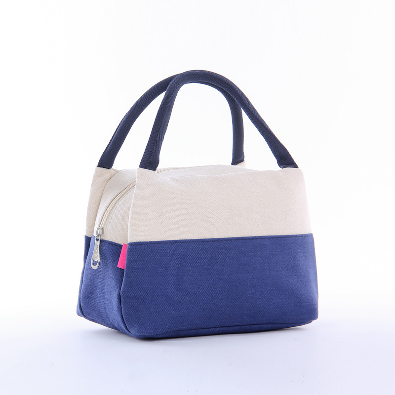 Women Portable Lunch Bag Canvas Insulated Cooler Bags Thermal Food Picnic Lunch Bags Kids Lunch Box Bag Tote